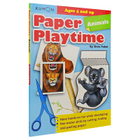 Kumon Paper Palytime Animals Ages 4 and up 公文式教育 启蒙本手工游戏书教辅