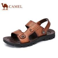 camel 骆驼男鞋2017夏季新品日常休闲凉鞋清爽透气露趾男士凉鞋