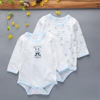 长袖哈衣夏季婴儿连体衣纯棉宝宝三角爬爬服新生儿睡衣服全棉 衣标100 建议体重19-23斤