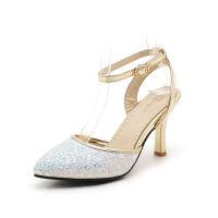 O'SHELL欧希尔夏季上新007-66-3韩版混合材质女士凉鞋