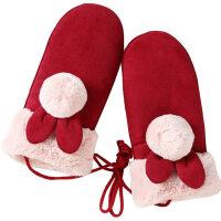 儿童手套冬季8-16岁男孩女孩保暖宝宝加绒加厚卡通可爱小学生手套