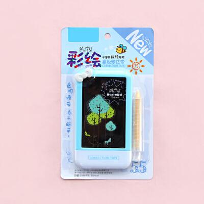 韩国创意文具学生可爱彩绘画板修正带 多功能改错带涂改带改正带