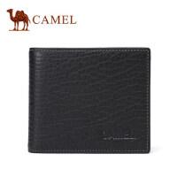 Camel/骆驼长款钱包2017新款男士真皮钱夹青年休闲牛皮竖款男皮夹