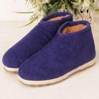 中老年人棉鞋男女士加绒加厚保暖手工老棉鞋家居老北京布棉鞋