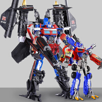 合体汽车机器人模型带车厢儿童男孩