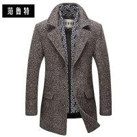 秋冬季羊毛呢大衣男士毛尼子中长款风衣妮子加厚韩版呢子中年外套