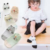 童袜 全棉卡通立体短筒宝宝袜 春夏薄款可爱儿童船袜3-12岁
