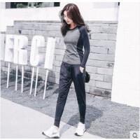 女跑步运动服健身房套装韩国新款显瘦修身宽松款瑜伽服女装