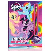 My Little Pony小马宝莉All star Activities全明星活动英文原版绘本带彩虹笔儿童启蒙图画书