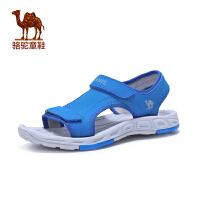 小骆驼童鞋年夏季新款儿童露趾户外凉鞋男童防滑魔术贴沙滩鞋
