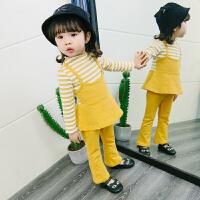 女童秋装运动套装女宝宝小女孩三件套时髦