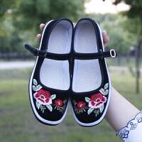 老北京布鞋批发中年妈妈绣花鞋春季浅口民族风布鞋女春季低帮女鞋