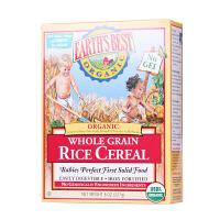 美国Earth's Best世界* 1段宝宝营养高铁有机米粉纯大米 婴幼儿辅食(红色装 4个月以上 227g)