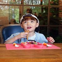 【当当自营】萌宝(Cutebaby)一体式便携硅胶儿童餐具 粉兔
