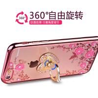 苹果6s手机壳挂绳挂脖女iphone6splus硅胶保护套水钻奢华新款全包
