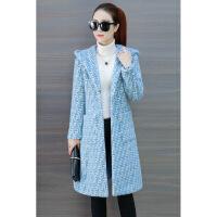 2018新款秋装韩版中长款针织衫女装连帽开衫毛衣女外套秋冬季长袖
