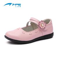 七波辉女童鞋 2018春季新品女童镂空浅口皮鞋公主鞋 女童时尚演出单鞋