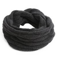 冬季套头围巾男脖套保暖两用男士围脖百搭简约