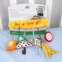 猫头鹰婴儿音乐车挂床绕 安全座椅挂件毛绒玩具