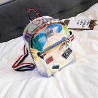 夏天迷你透明双肩包包女2018新款韩版潮时尚果冻包休闲学生小背包 大款 赠送运费险