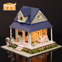 智趣屋diy小屋单车天使手工拼装模型房子玩具别墅送女友生日礼物