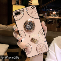 苹果X手机壳8plus女款iPhonexs max防摔7P潮牌硅胶6s网红指环支架 /s(4.7寸) 玫瑰金