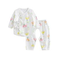 婴儿内衣套装纯棉和尚服新生儿分体睡衣开裆水果女孩开裆合同套