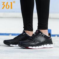 361男鞋智能跑鞋秋冬季运动鞋网面361度黑色轻便透气休闲跑步鞋