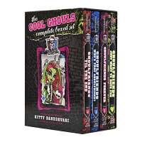 Monster High The Cool Ghouls Complete 怪兽中学4册 精灵高中 女孩奇幻故事章节书