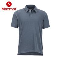 Marmot/土拨鼠2019夏季运动户外透气防晒男士短袖Polo衫