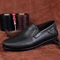 爸爸鞋大码皮鞋45 真皮软底单鞋休闲春夏秋季中老年父亲男士头层牛皮鞋