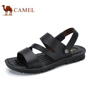 camel骆驼男鞋  夏季新品 日常休闲凉拖士透气沙滩鞋露趾皮凉鞋