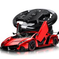 电动汽车赛车模型儿童玩具 遥控车充电跑车方向盘男孩漂移