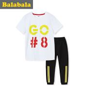 【每满200减100】巴拉巴拉儿童短袖套装男小童宝宝2017夏季新款短袖幼童两件套