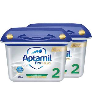 【2段白金】保税区发货 Aptamil爱他美 德爱白金版婴幼儿奶粉二段(6个月以上) 800g*2罐 海外购