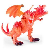 儿童新款声光投影行走双头恐龙 电动仿真恐龙模型玩具