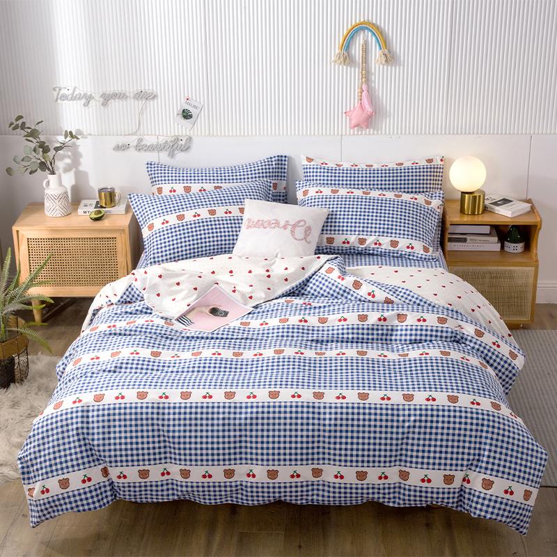 纯棉被罩单人单件双人全棉加密加厚被套150*200/200x230 1.5m1.8米床
