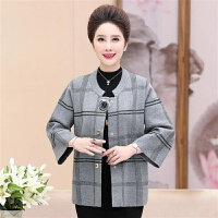 妈妈秋装外套女短款洋气上衣服40-50岁2019中年女装针织开衫