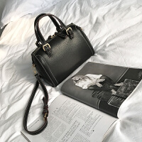 枕头包女包2018新款韩版潮手提包简约百搭港风红色单肩斜挎包大包 黑色--大号 升级版-少量现货