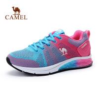 Camel/骆驼 春夏新款女款马拉松跑鞋透气减震运动飞线女跑步鞋