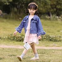 女童牛仔外套春秋中大童秋装儿童装洋气秋季公主上衣