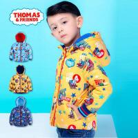 【满200减110】托马斯童装男童加厚外套中大童休闲保暖满印棉衣男宝宝冬季时尚棉服托马斯和朋友