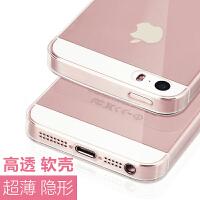 苹果5s手机壳iphone透明se超薄se2轻薄硅胶ip软壳i5s了平果es保护套全包防摔tou不发