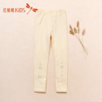 红蜻蜓新款时尚保暖可爱个性印花百搭打底裤