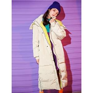 东大门羽绒服女中长款修身冬2018新款韩版学生过膝时尚连帽派克服