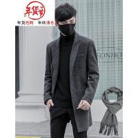 �L衣男�n版潮流2018新秋冬季羊毛呢子大衣中�L款修身���饽惺客馓�