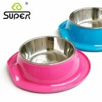 SUPER休普宠物碗 卷边碗中号 卷边帽子型设计 狗狗食盆用品