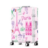 2018新款欧美拉杆箱学生行李箱万向轮abs旅行箱24寸密码箱包女