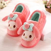 冬季居家棉拖鞋儿童女孩家居棉鞋中童保暖宝宝女童鞋包跟包头防滑