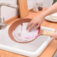 不沾油百洁布3片装 家用厨房洗碗布抹布棉纱多用吸水防烫桌布